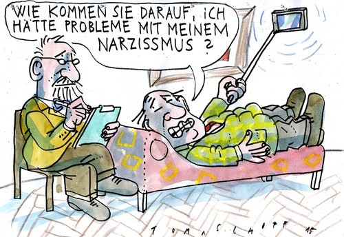 Cartoon: Selfie (medium) by Jan Tomaschoff tagged selfie,narzissmus,selfie,narzissmus
