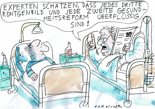 Cartoon: überflüssig (medium) by Jan Tomaschoff tagged gesunbdheits,sparen,reform,gesunbdheits,sparen,reform