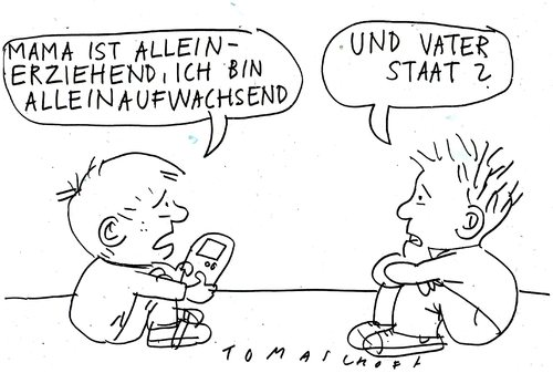 Cartoon: vater staat (medium) by Jan Tomaschoff tagged familien,staat,kinder,familie,alleinerziehend,unterhalt,familien,staat,kinder,familie,alleinerziehend,unterhalt,eltern