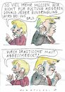 Cartoon: Maut (small) by Jan Tomaschoff tagged merkel,trump,nato,maut,rüstung