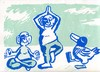 Cartoon: Meditation 1 (small) by Jan Tomaschoff tagged yoga,meditation