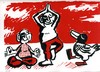 Cartoon: Meditation 4 (small) by Jan Tomaschoff tagged yoga,meditation