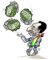 Cartoon: Interim Mali President (small) by Damien Glez tagged mali,president,dioncounda,traore
