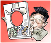Cartoon: Kim Jong Il (small) by Damien Glez tagged kim jong il corea korea north