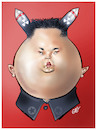 Cartoon: Kim Jong Un (small) by Damien Glez tagged kim,jong,un,north,korea,nuclear,asia