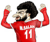 Cartoon: Mohamed Salah (small) by Damien Glez tagged mohamed,salah,football,egypt