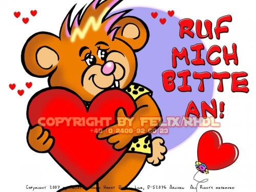 Cartoon: Cartoon Character (medium) by FeliXfromAC tagged bär,bear,sleepy,stockart,einschlafen,charakter,model,sheet,felix,alias,reinhard,horst,aachen,devil,teufel,mascot,sympathiefigur,gute,nacht,design,line,layout,entwurf,rot,red,comic,cartoon,illustration