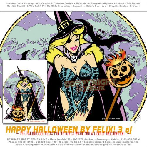 Zeichnungen von sexy Halloween