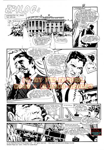 Cartoon: Jarro Sample Page 9 (medium) by FeliXfromAC tagged page,seite,comic,classisch,line,design,woman,girl,frau,illustrator,illustration,cartoon,abenteuer,horst,reinhard,felix,alias,jarro,ronald,reagan,südamerika
