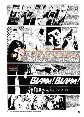 Cartoon: Strangers In The Night Page 3 (medium) by FeliXfromAC tagged comic,film,noir,retro,gangster,hollywood,classic,poster,crime,felix,alias,reinhard,horst,aachen,frau,woman,action,design,line,sinatra