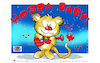 Cartoon: Lovecrazy Leo-HOSSA BABY! (small) by FeliXfromAC tagged felix,alias,reinhard,horst,design,line,aachen,lovecrazy,leo,cartoon,character,maskot,maskottchen,illustration,illustrator,ciomic,zeichner,comiczeichner,designer