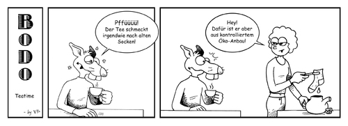 Cartoon: BODO - Teatime (medium) by volkertoons tagged socks,socken,teatime,teezeit,tea,tee,rat,ratte,bodo,strip,comic,cartoon,volkertoons