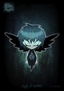 Cartoon: fallen angels - angel of sorrow (small) by volkertoons tagged engel,angel,angels