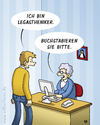 Cartoon: Frl. Gerda - Legastheniker (small) by volkertoons tagged sprechstundenhilfe,legasthenie,legastheniker,cartoon,volkertoons