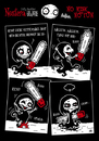 Cartoon: NOSFERA - No Risk No Fun (small) by volkertoons tagged volkertoons duke macabre nosfera vicious vampiress böse vampöse vampir vampire comic gothic lustig humor fun funny undead untot