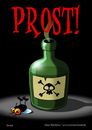 Cartoon: Prost! (small) by volkertoons tagged volkertoons,cartoon,comic,karte,grußkarte,postkarte,gereeting,card,fliege,flie,gift,poison,prost,cheers,lustig,humor,spaß,fun,funny