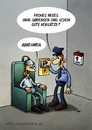 Cartoon: Sörensen - die Karte (small) by volkertoons tagged volkertoons,cartoon,schwarzer,humor,black,lustig,funny,albern,todesstrafe,gefängnis,prison,hinrichtung,tod,death,henker