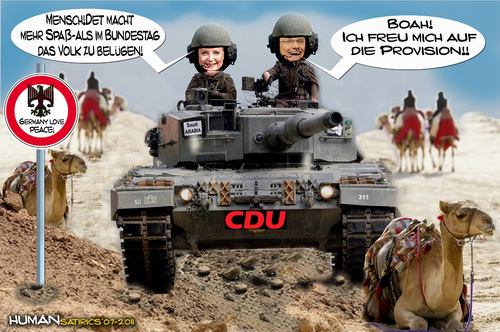 Cartoon: Alles für den Frieden!!CDU vora (medium) by cartoonist_egon tagged cdu,krieg,waffen,deal,saudi,arabien