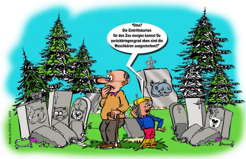 Cartoon: Artensterben (medium) by cartoonist_egon tagged tierarten,sterben,ausrottung,natur