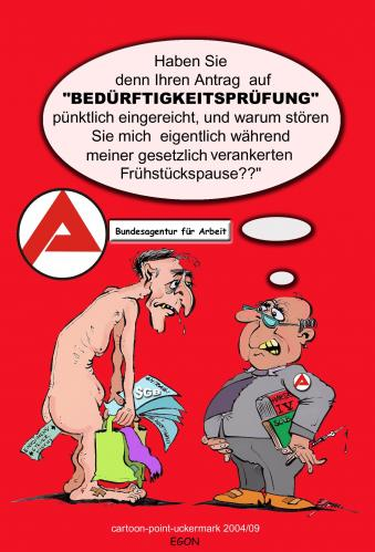 Cartoon: BEDÜRFTIGKEIT (medium) by cartoonist_egon tagged aa,