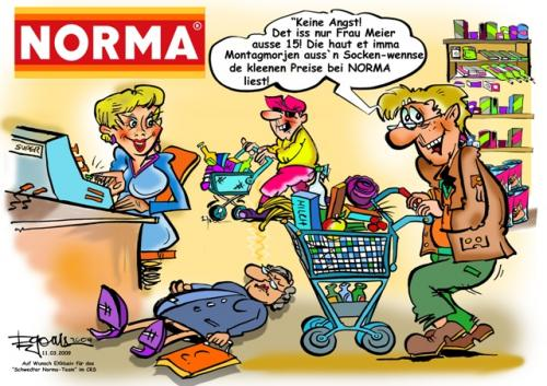 Cartoon: Norma (medium) by cartoonist_egon tagged norma,discounter