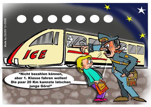 Cartoon: Rausschmiss (medium) by cartoonist_egon tagged db,zug,service,schüler,reisen