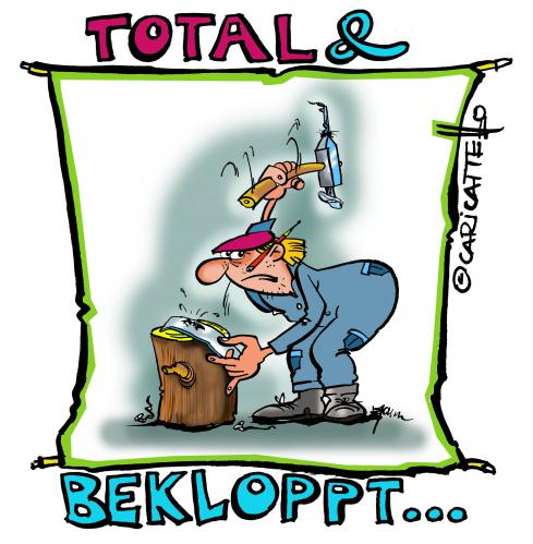 Cartoon: Völlig bekloppt! (medium) by cartoonist_egon tagged gagaismus