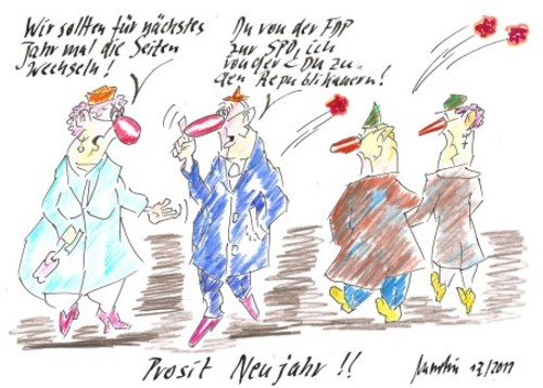 Prosit Neujahr von quadenulle | Politik Cartoon | TOONPOOL