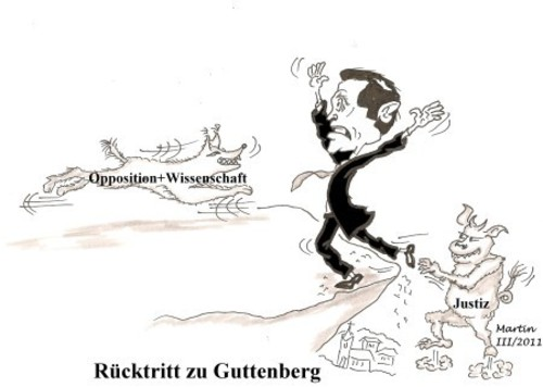 Cartoon: Rücktritt zu Guttenberg (medium) by quadenulle tagged cartoon
