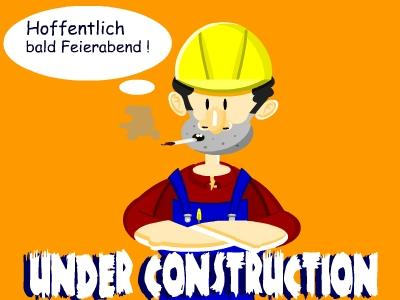Cartoon: Held der Arbeit (medium) by Tricomix tagged wochende,arbeiter,faulenzer,under,construction,bauarbeiter,feierabend