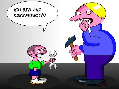 Cartoon kurzarbeit medium by tricomix tagged arbeitslos kündigung