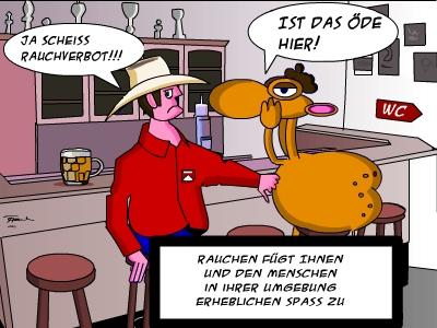 Cartoon: Rauchverbot (medium) by Tricomix tagged rauchverbot,kneipe,marlboro,camel,rauchen,zigarre,eckkneipe,streichholz,schachtel,kippe,kippen,fluppe