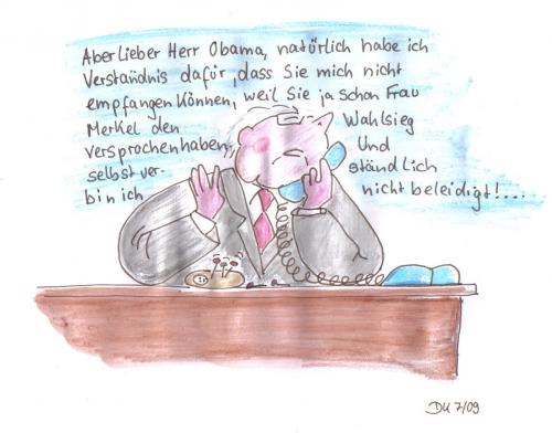 Cartoon: Voodoo (medium) by dorthe tagged steinmeier