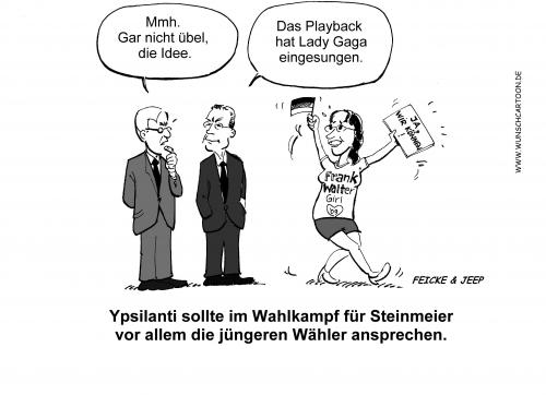 Cartoon: Frank-Walter-Girl (medium) by Wunschcartoon tagged steinmeier,wahl,2009