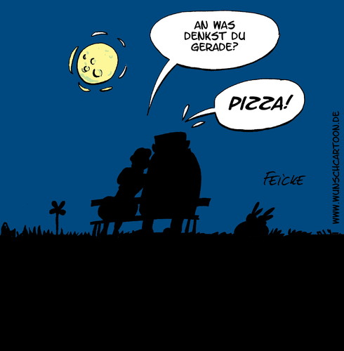 Cartoon: Romanze (medium) by Wunschcartoon tagged pizza,pizzapitch,essen,italy,eating,dinner,romance,love,couple