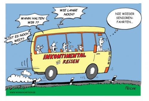 Medium by wunschcartoon tagged reise bus urlaub senioren