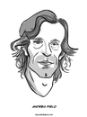 Cartoon: Andrea Pirlo (small) by Ahmedfani tagged football,italy,pirlo