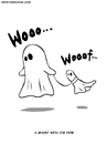 Cartoon: Scary Cartoon (small) by Ahmedfani tagged ghost,dog