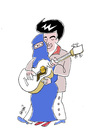 Cartoon: Elvis and Emine (small) by Hayati tagged elvis and emine
