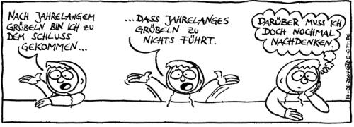 Cartoon: Grübelei (medium) by weltalf tagged hänflinge,