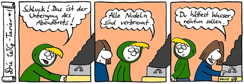 Cartoon: Basta mit Pasta! (medium) by weltalf tagged wg,pasta,nudeln