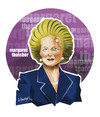 Cartoon: IRON LADY M. THATCHER -1925-2013 (small) by donquichotte tagged ldy
