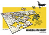 Cartoon: MIDDLE EAST PROJECT CONTINUE... (small) by donquichotte tagged mddlest