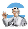 Cartoon: NEW POPE  1. FRANCISCO (small) by donquichotte tagged pope