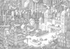 Cartoon: The Lego city film festival (small) by erikberndt tagged event,pencil,black,and,white