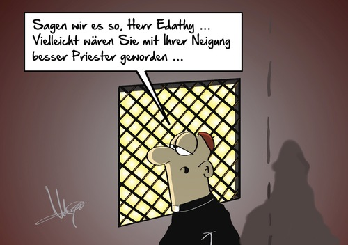 Cartoon: Edathy (medium) by Marcus Gottfried tagged edathy,spd,kinder,gericht,verfahren,strafe,neigung,kirche,priester,angebot,milde,marcus,gottfried,cartoon,karikatur,edathy,spd,kinder,gericht,verfahren,strafe,neigung,kirche,priester,angebot,milde,marcus,gottfried,cartoon,karikatur