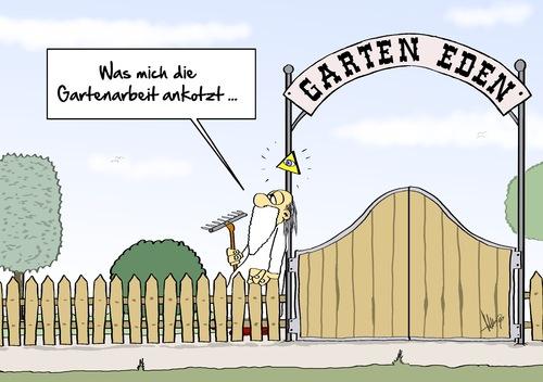 Garten Eden Von Marcus Gottfried Religion Cartoon Toonpool