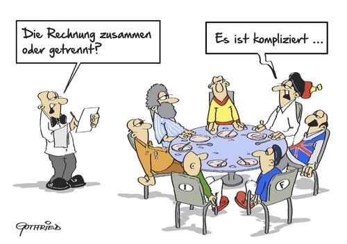 Rechnung Zusammen Von Marcus Gottfried Politik Cartoon
