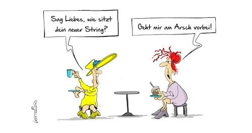string tanga arsch
