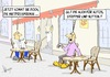 Cartoon: Cafe Venezia ll (small) by Marcus Gottfried tagged cafe,venezia,strassencafe,gast,kellner,mietpreis,mietpreisbremse,marcus,gottfried,cartoon,karikatur,zeitung,lesen,information,nachfrage,nutten,auto,stripper,preis,mieten,kosten